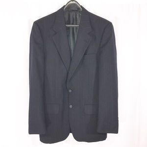 Burberry Mens Pin Striped Navy Suit